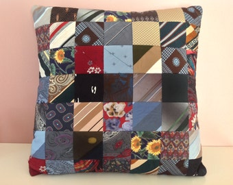 301 Custom Made Quilted Necktie Pillow