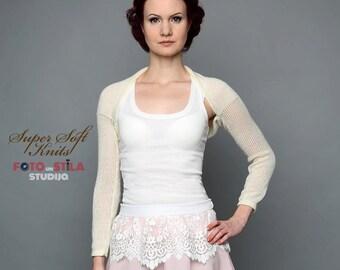bridal shrug ivory wedding bolero bridal bolero jacket baby alpaca silk bolero soft knit wedding sweater