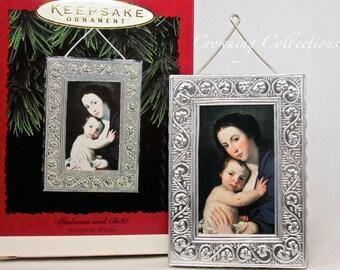 1996 Hallmark Madonna and Child Keepsake Ornament Jusepe de Ribera Nativity Holy Family Baby Jesus Mary Religious Vintage