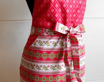 Apron Rowan. Beautiful Handmade full apron dress for kitchen, Womens Apron