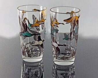 Canada Goose parka sale shop - Vintage drink glasses goose �C Etsy