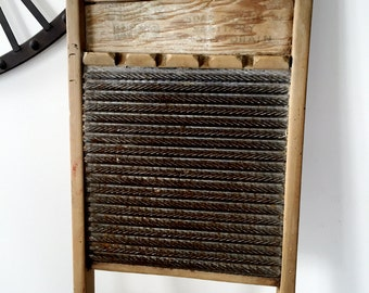 Vintage Silver King Washboard by National Washboard Co. 824, Rustic Farmhouse, Top Notch