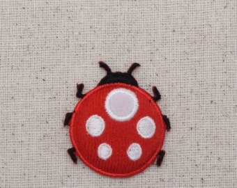 Red Ladybug - Puffy - Iron on Applique - Embroidered Patch - 1123471