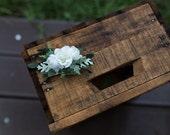 Flower Hair clip wedding clip floral hair clip elegant bridal hair accessories green white