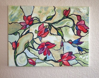 Humming Bird Oil Painting
