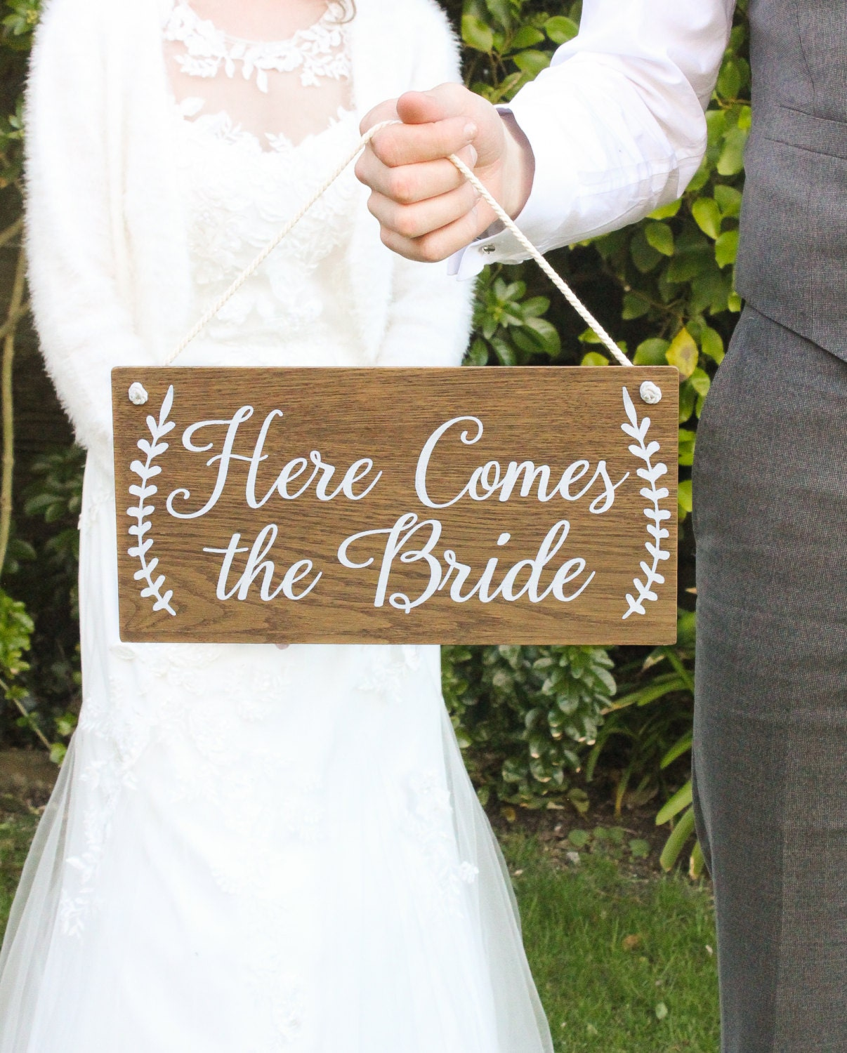 Here Comes The Bride Sign: Here Comes The Bride Sign Rustic Wooden Wedding Signs