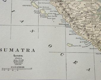 1901 Sumatra Antique Map