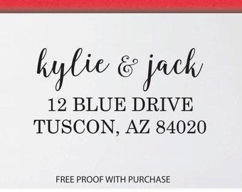 Personalized Custom Return Address Stamp - 8L