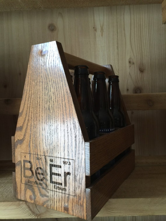 Wooden Beer Carrier. Great gift for dad, husband, best man, groomsmen,home brewer or any other beer lover!