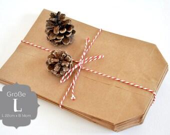 24 paper bags kraft paper L