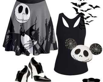 skirt inspired by a king who loves halloween and christmas