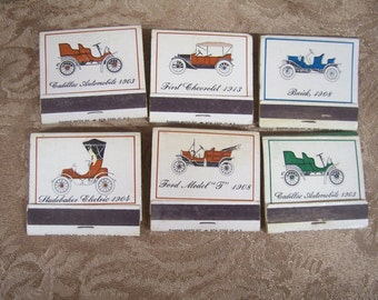 Vintage Early American Automobile  Matchbooks