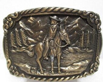 cowboy belt buckle, vintage belt buckle, vintage mens wear, trucker belt buckle, hipster vintage accessories, fathers day gift, lumbersexual