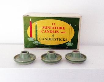 Vintage candle sticks with original box