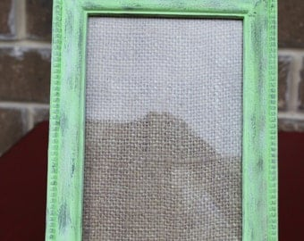 Light Green Distressed Picture Frame