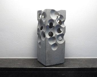 alien concrete vase