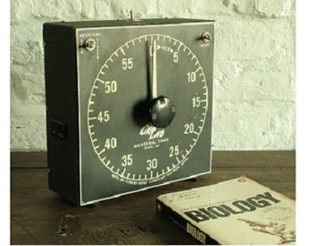 Large vintage Laboratory timer, Dimco-Gray company Ohio, Re wired with PAT test