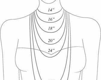 Necklace Length Tutorial | NOT FOR SALE |  Inches and Centimeters - tutorial only, do not purchase