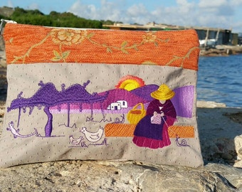 Clutch Pagesa ibiza Lavender and Orange