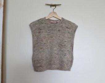 vintage 80's angora sweater vest