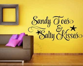 Starfish Wall Decal Etsy - Wall decals beach quotes