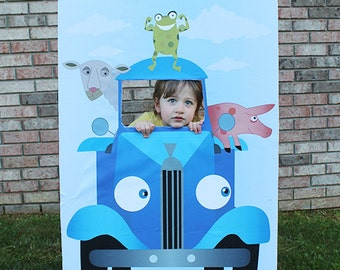 Little Blue Truck Birthday Photo Booth, Printable Party Decor