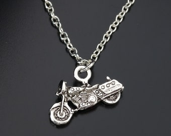 Motorbike Necklace, Motorcycle necklace, Motorcycle Charm, Motorbike Lover Pendant, Motorbike Lover  Jewelry,Motorbike Owner Gifts