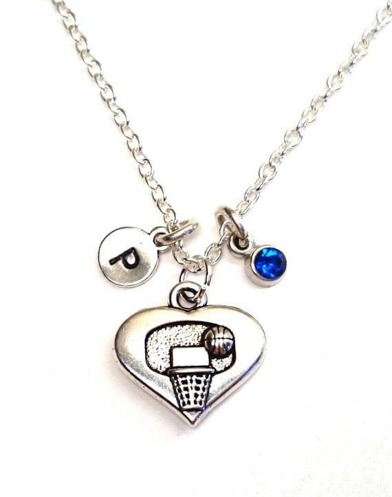 basketball necklace basketball jewelry by gustavsdachshundshop