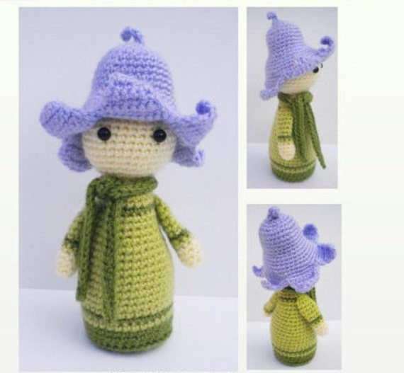 Original Crochet Amigurumi Flowers : Crochet Pattern Amigurumi Doll Flower Doll Bluebell Bonnie