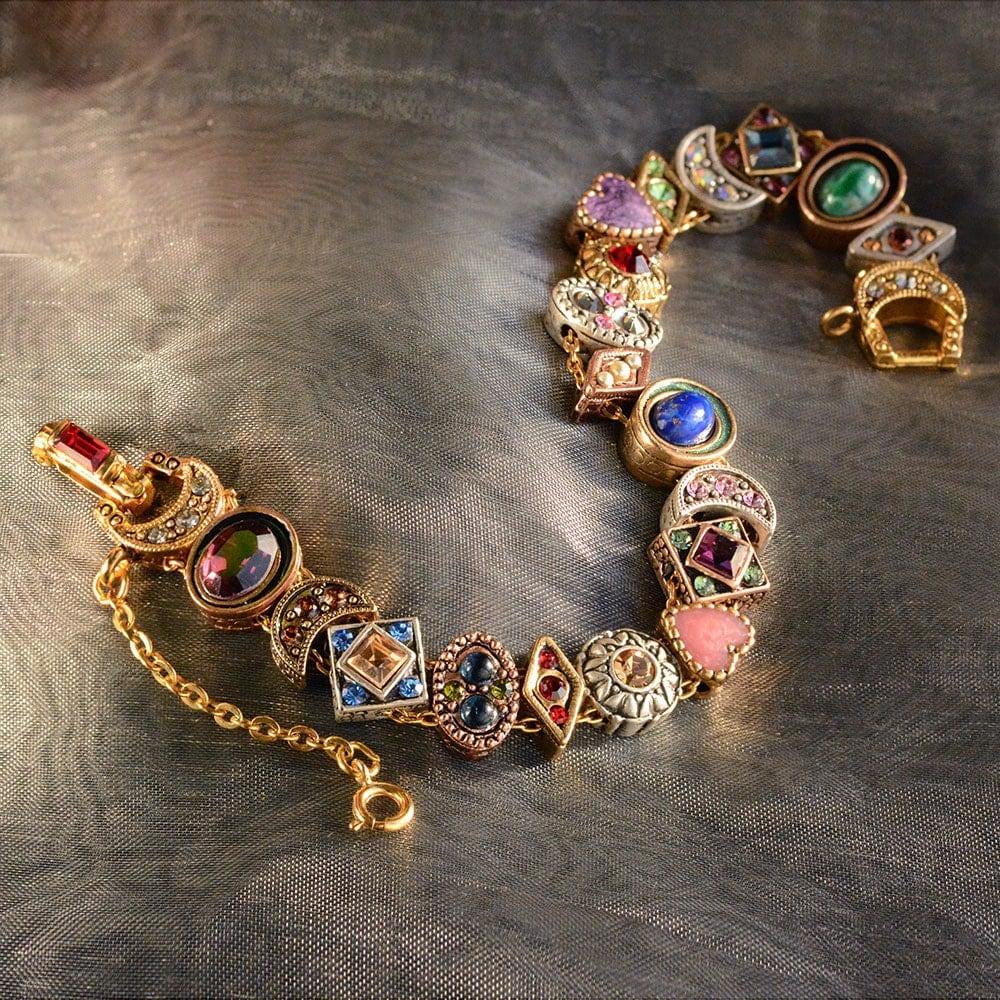 Vintage Slide Bracelet Charm Bracelet Victorian Bracelet