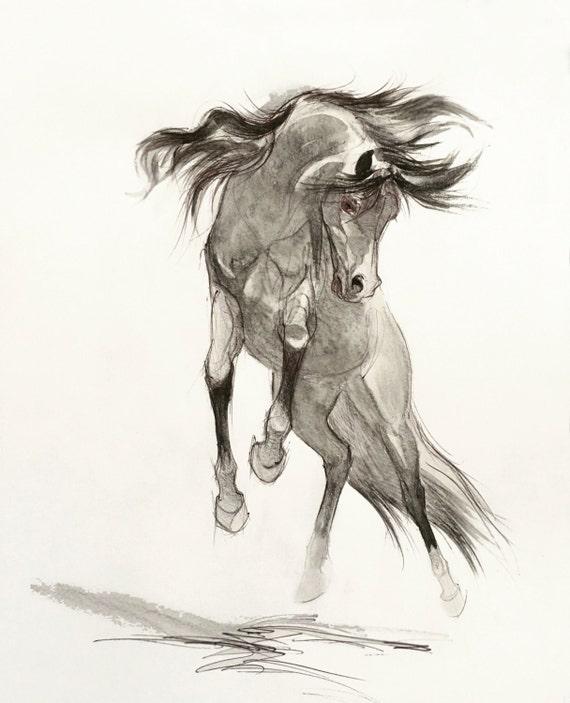 Ben noto Matita artistica di disegno del cavallo cavallo arabo CC73