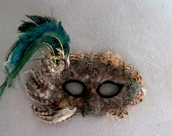 Vintage Peacock feather mask