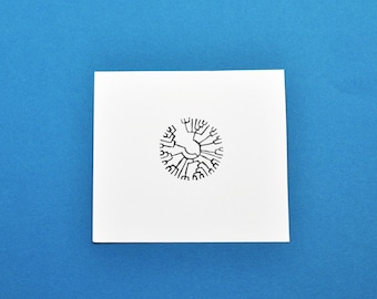Phylogenetic Tree Art Stamp, Hand Carved Science Evolution Rubber Stamp