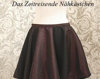 Circle skirt, skater skirt - gothic, punk - (31,5 inch waist)