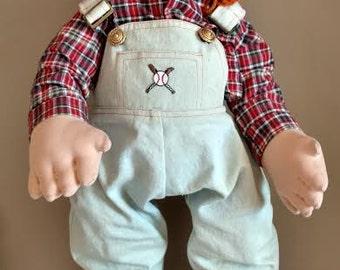 """Frumpkins Doll """"Freddy"""" Hand Crafted Cloth 24"""" 844/2500 in Original Box"""