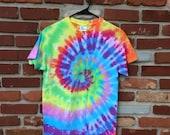 Tie Dye Shirt - Short Sleeve - Rainbow Swirl - Small - Custom Orders/Sizes Available!