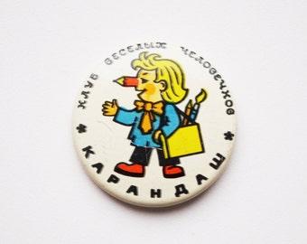 Vintage (4 cm) 1.57'' cartoon movie character animation brooch badge token clasp pinion pin button cordon band medallion pinback