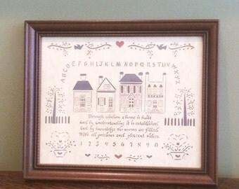 Paper Cutting Scherenschnitte Framed Scissor Cut Art Wood Frame