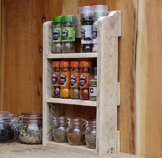 Kitchen Cabinet Spice Racks: Rustic Spice Shelf / Kitchen Spice Rack / Herb Cabinet