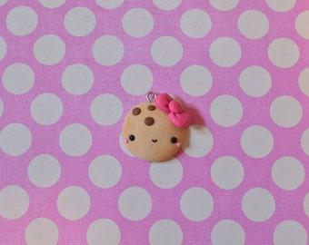 Kawaii Cookie Charm, Cute Cookie, Polymer Clay Charm, Food Charm, Polymer Clay Cookie. Cookie Necklace, Cookie Jewelry, Food Jewelry