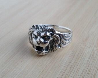 Handmade Sterling Silver Lion Ring