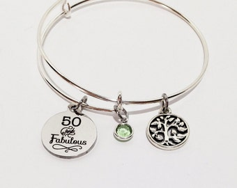 fifty and fabulous, 50th Birthday Gift, 50 Birthday, 50th Birthday Gift for Women, Fifty Birthday, Over the Hill Gift, 50 and Fabulous