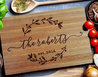 Custom Cutting Board,  Personalized Cutting Board, Carving wood  Board, Chopping Board, Wedding gift,  Personalized closing gift (157)