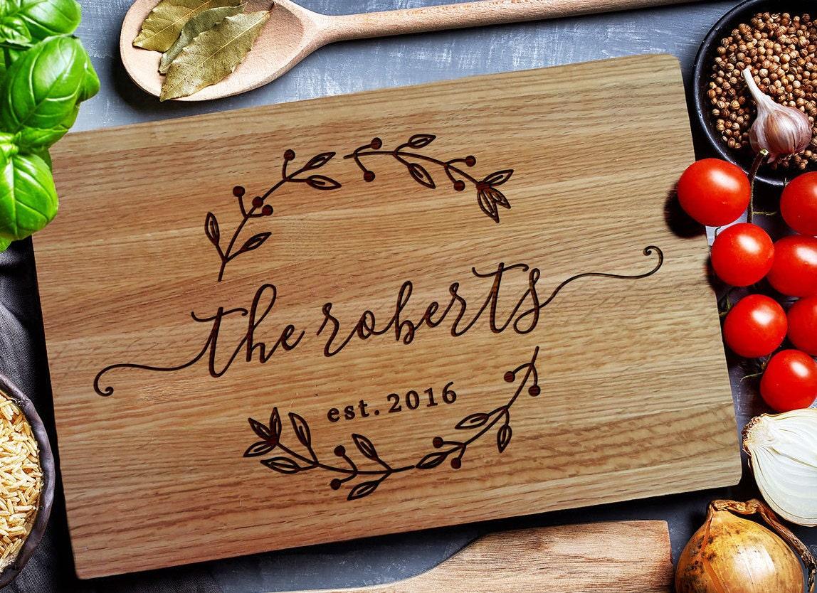 Wedding Gift Cutting Board: Custom Cutting Board Personalized Cutting Board Carving