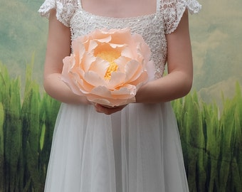 Paper Peony, Bridal Bouquet, Paper wedding bouquet, Wedding bouquet, Alternative Bouquet, Bridal bouquet, Paper flower bouquet