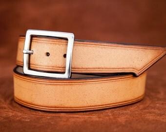 Leather belt smokey rock style