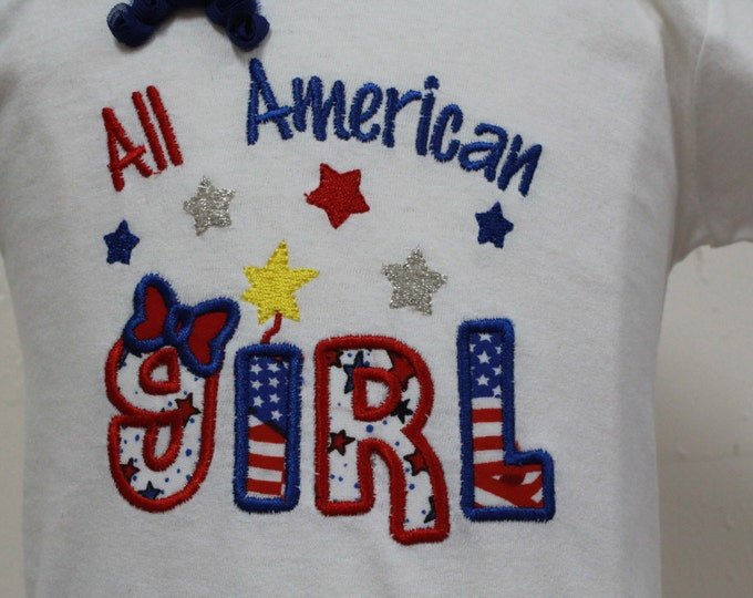 Girls 4th of July shirt, Baby girl July 4th bodysuit, Girl July 4th shirt, Fourth of July girl shirt, Independence Day shirt for girls