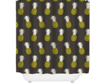 pineapple shower curtain brown shower curtains brown bathroom decor mens shower curtain pineapple decor mens bathroom