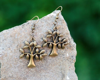 mothers day family tree Tree of Life Earring Tree of Life jewelry Family tree jewelry Spiritual gifts mother gift daughter gift sisters gift