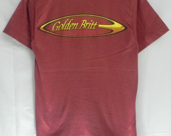 90s//Golden Britt GB Surfboards//Tshirt//Size S//Made In USA